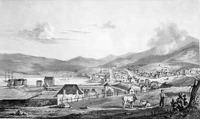 Hobart Town, view from the East